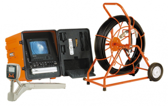 drain inspection camera used to ensure that a drain stoppage is removed after rooter service