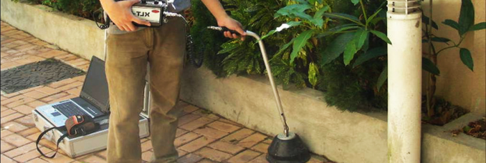 commercial plumber in Sunnyvale CA performs exterior electronic leak detection